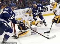 An assist from one Tampa Bay Lighting player to another